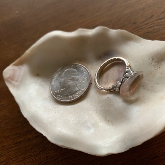 size 5.5 electroplated hand mined crystal ring